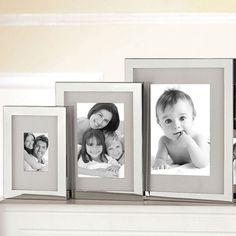 FINK Living Bilderrahmen BEN (versilbert, silber, Wand, Aufsteller, Hochzeit, Geburtstag, Format 9x13 cm, 13x18 cm, 20x25 cm, 10x15 cm)