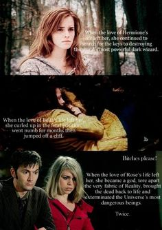Not to hate on Hermoine, since I love her, but this is funny :) Also suck it Bella
