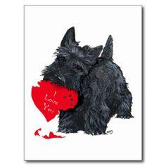 De Schotse Valentijnskaart van Terrier Wenskaart