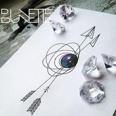#geometrictattoo #geometric #arrowtattoo #bunette #abstracttattoo #sciencetattoo #astronomytattoo #astronomy #galaxytattoo #galaxy