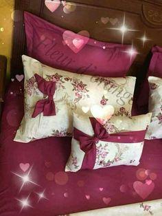 Hippie Bedroom Decor, Purple Bedroom Decor, Bed Cover Design, Bed Design, Pillow Crafts, Diy Pillows, Blue Comforter Sets, Bedding Sets, Draps Design
