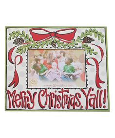 Loving this 'Merry Christmas Y'all' Frame on #zulily! #zulilyfinds