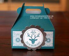 Stampin' Up!-Geschenkverpackung-Tüpfelchen auf dem Geschenk