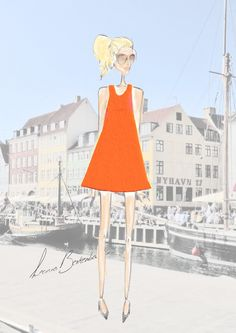 Fashion Orange dress | Leonie Berkenbosch