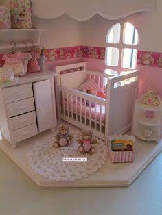 63 New Ideas For Baby Girl Nursery Room Ideas Reading Nooks Barbie Bebe, Barbie Doll House, Barbie Dolls, Nursery Room, Girl Nursery, Girl Room, Baby Room, Nursery Ideas, Miniature Rooms