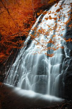Autumnal Waterfall in the Appalachian Mountains by vegabluephoto, $29.95