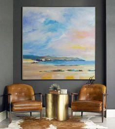 Landscape Abstract Acrylic Painting Landscapae Art Wall Art Gold Painting Wall Decor Modern Art Original Painting On Canvas by Julia Kotenko