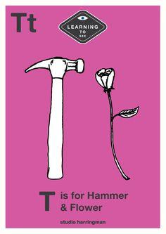 Tt - T is for Hammer and Flower