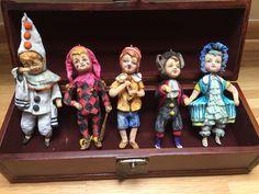 Купить Набор ватных елочных игрушек Буратино - ватное папье-маше, Папье-маше