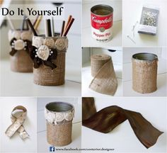 "Ideas for ""DIY"" home decor Make a Fancy pen stand by yourself..."