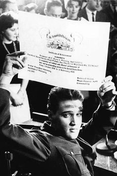 Certificate of Acheivement Awarded to Elvis A. Presley For Outstanding Service To The United States Army.