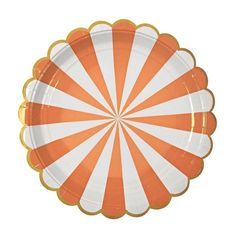 Large Orange Striped Paper Plates Meri Meri Orange / Peach Plates, Toot Sweet Party Supplies Paper Products, Coral and Gold Paper Plate Party Napkins, Party Plates, Dessert Plates, Orange Plates, Sweet Party, Orange Party, Coral Party, Orange Red, Party Supply Store