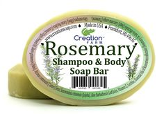 """Handmade Rosemary Soap - 100% Pure Botanical Shampoo & Body Soap 8 oz ( 2 4 oz Bar Pack) from Creation Farm. Handmade Rosemary Shampoo, Bathing and Shaving, """"All In One - Oval Oak"""" Bar Soap. Rosemary Shampoo Bar Soap, stimulates fair follicles and draws that fine line between premature and balding condition. Wet your scalp and rub, Rosemary """"Oval Oak"""" Bar Soap over your scalp. As you scrub your scalp a stimulating trigger is noticeable in the hair follicles; for some people. Rosemary…"""