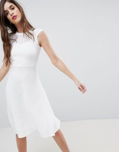 French Connection Knitted Fit and Flare Dress at asos.com e98ef6b31