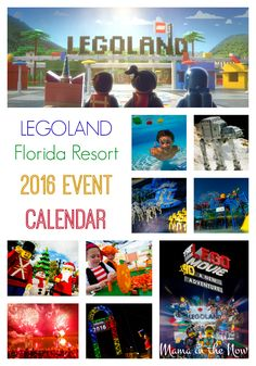 LEGOLAND Florida Resort 2016 Event Calendar. Build memories with your family, brick by brick, with these AWESOME LEGO events and happenings!