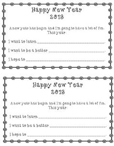 Freebie to help your kiddos set New Year Goals! - Kindergarten Korner