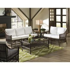 Panama Jack Bora Bora 5 Piece Living Room Set Upholstery: Canvas Spa