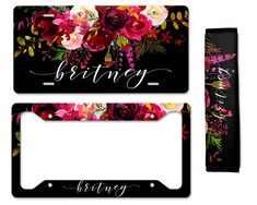 Add that finishing touch to your ride with our monogrammed car tag, frame or seatbelt cover to match our car mats and coasters. {ORDERING INSTRUCTIONS} Add item(s) to cart. At checkout you will see a box that says add an optional note to seller , Please leave all of the following