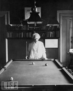Mark Twain playing pool !!