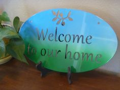 Welcome to our Home sign, Steel Welcome Sign, Entryway Welcome Sign by TriStateMetalFab on Etsy