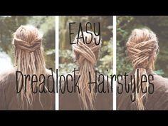 Dreadfrisuren: EASY DREADLOCK HAIRSTYLES - Lina Larsen - YouTube