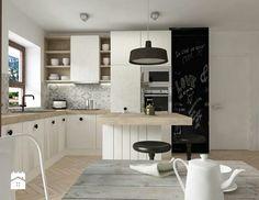 Czarno-białe kafle w kuchni