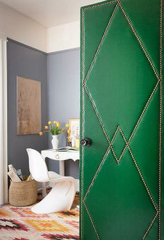 Make doors a design element in your home with this DIY upholstery project.