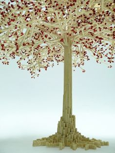 So awesome! Amazing things created with matchsticks! Nirmana 3d, Toothpick Crafts, Matchstick Craft, Tree Base, Stick Art, Pin Art, Cherry Tree, Craft Stick Crafts, Wonderful Things