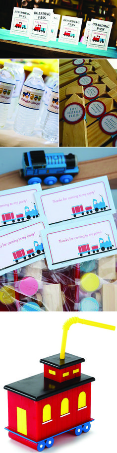 Train Theme Birthday Party Ideas and Inspiration for Kids -  Like the Boarding Pass as the invitation!