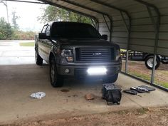 generic LED Light bar install pics - Page 2 - Ford Forum - Community of Ford Truck Fans 2012 Ford F150, Black Truck, Truck Mods, Classic Car Insurance, Jeep Parts, Led Light Bars, Truck Accessories, Cool Trucks, Bar Lighting