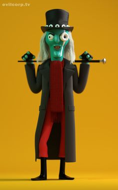 Seth Watkins / The Hitcher (Mighty Boosh) #3D #render #character