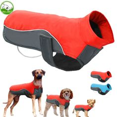 Waterproof Dog Winter Coat Warm Puppy Jacket Vest Pet Clothes Apparel Dog Clothing For Small Medium Large Dogs Ropa Para Perros Material: Cotton& Pet Puppy, Pet Dogs, Dogs And Puppies, Large Dog Clothes, Puppy Clothes, Dog Vest, Dog Jacket, Vest Coat, Rain Jacket