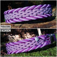 Halsband aus Parachute Cord mit Alu Klickverschluß und Edelstahlring. Kann auf Wunsch auch als Zugstopp angefertigt werden. Die Farben können individuell zusammen gestellt werden.