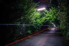 "122 / 365 - 2013 - ""light rider"" @ Gruenbeckweg Vienna, Paths, Country Roads, Moon, The Moon"