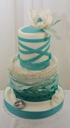 Ruffles in Teal and a Magnolia