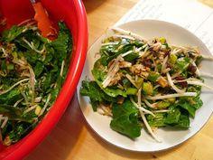 salade d'amour, salade d'épinard, salade sucrée salée, salade nutritive épinard et riz