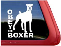 Obey The Boxer  DC986OBY  High Quality Adhesive by NickerStickers