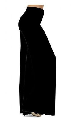 Solid Black Or Gray Slinky Wide Leg Plus Size Supersize Palazzo Pants