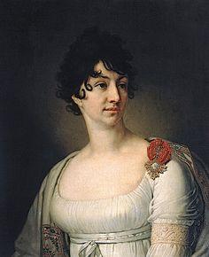 1813 S. A. Raevskaya by Vladimir Lukich Borovikovsky (State Pushkin Museum, Moskva Russia)