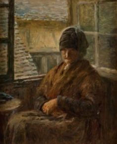 """""""Portrait of Mother Boudoux at Her Window"""" by Adolphe‐Félix Cals. 1876, oil on canvas. From the collection of The Dixon Gallery and Gardens, Memphis, TN, on loan to The Tampa (FL) Museum of Art as part of the """"Chagall to Renoir: Paris and the Allure of Color"""" exhibition (2014-2015). The Allure, Renoir, Art Museum, Oil On Canvas, Portrait, Memphis, Gallery, Saga, Gardens"""