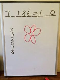 Math Hangman -  a math version of an favorite word game. Use a flower or car picture instead of using the hangman!