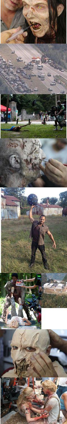 The Walking Dead behind the scenes photos #thewalkingdead #behindthedead