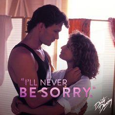 """Non mi dispiacerà mai"" Dancing Movie ( 80s Movies, Film Movie, Good Movies, Dirty Dancing Quotes, Radios, Patrick Swazey, Avatar, Jennifer Grey, Cinema"