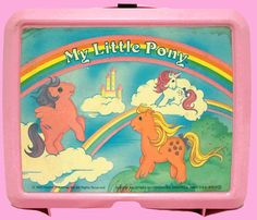 My Little Pony pink vintage lunchbox 80's Fairy Kei by shakesomeaction, $10.00
