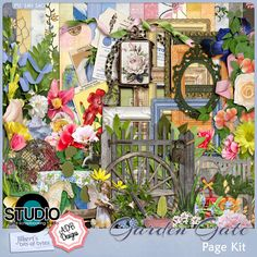 Garden Gate - Page Kit  So many ideas............