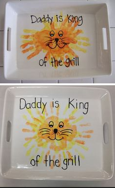 42 Fathers Day Handprint Gifts For Dad And Grandpa Diy Father's Day Crafts, Diy Father's Day Gifts Easy, Father's Day Diy, Fathers Day Crafts, Baby Crafts, Toddler Crafts, Holiday Crafts, Crafts For Kids, Fathers Gifts
