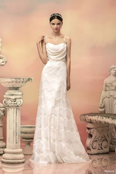 Truly a dress for a greek goddess wedding... just .... so beautiful!!!apollonia sleeveless sequin a line wedding dress beaded straps