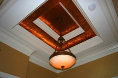 Ceiling with great moulding and faux paint.