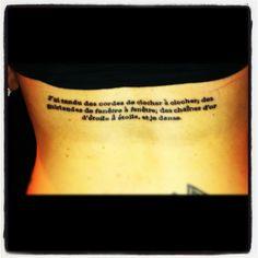 My Rimbaud tattoo...