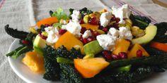 Persimmon Avocado Kale Salad